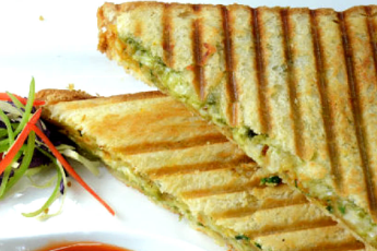 Veg. cheese grilled sandwich