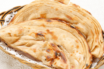 Lachcha parantha with butter